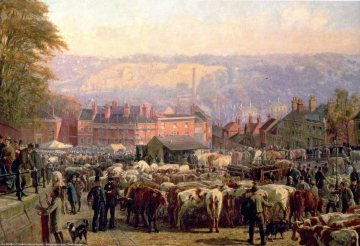 Norwich cattle market. Frederick Bacon Barwell.