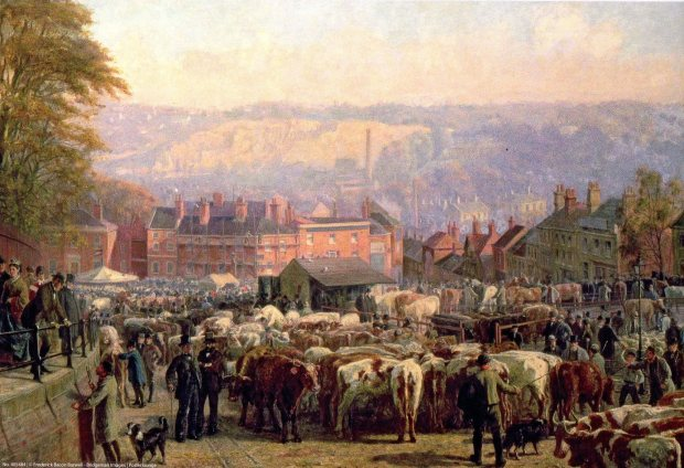 Norwich cattle market.