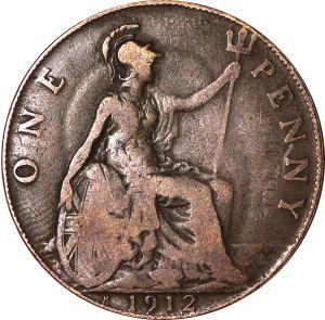 A penny showing Britannia