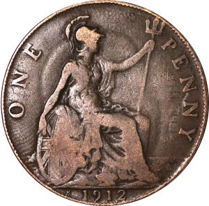 A penny showing Britannia