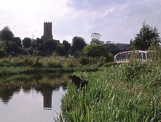 Glandford church and ford