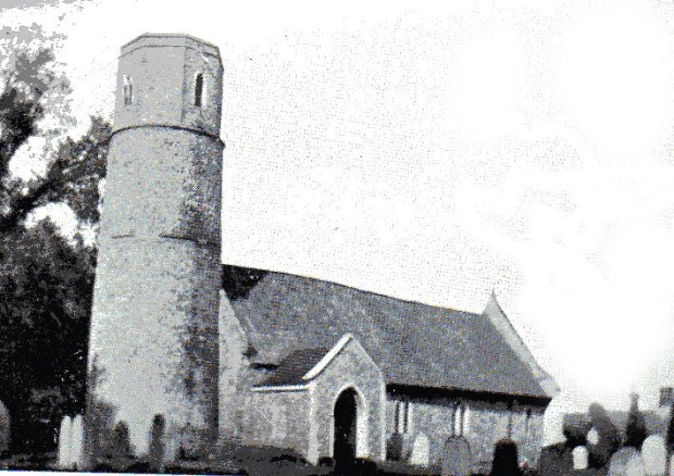 MORTON CHURCH before the tower fell.